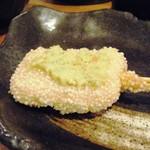 54244951 - 生麩の枝豆味噌田楽串カツ(200円)