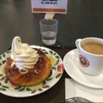 サンマルクカフェ - 料理写真:デニブラン(プレーン)とブレンド珈琲