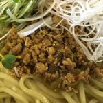 のぉくれ - 冷やし坦々つけ麺(ミンチ肉アップ)