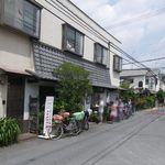 釜揚うどん一忠 - 視点:裏通り沿い北向き(南西にJR八尾駅)