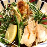 麺鮮醤油房 周月 - 冷麺おろしぶっかけ黒胡麻麺