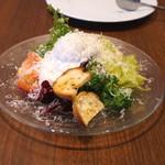旬香亭 - シーザス風サラダ (新感覚に仕立てた生野菜&シーザスソースのエスプーマ)
