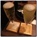 魚と酒 はなたれ - こぼれスパークリング( ^ω^ )