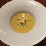 La Coccinella - とうもろこしとフォアグラのスープ(1200円)
