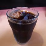 中華料理 とき - 食後のアイスコーヒー