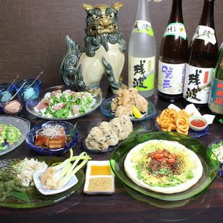 やっぱり沖縄料理!ゴーヤチャンプルー・海ぶどうは絶品です!