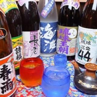 お酒の品揃え泡盛やハブ酒など沖縄のお酒も◎