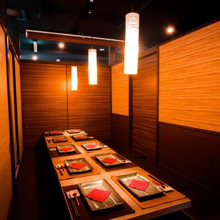 【浜松町駅徒歩1分】贅沢なこだわりの個室空間が宴会に大人気!