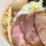 麺屋りゅう - 冷やしラーメン(醤油) + 味玉(アップ)