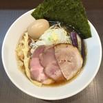 麺屋りゅう - 冷やしラーメン(醤油) + 味玉