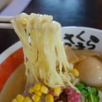 さくら亭 - 麺は喜多方スタンダード、熟成麺ではありませんが茹で加減良し