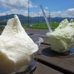 モンジュー - 料理写真:実は猪苗代湖が見えます♪