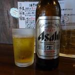 やま昇 - 瓶ビール(小瓶)(350円)