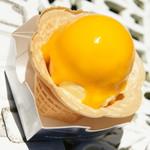 オープンカフェ - 料理写真:マンゴーのアイスクリーム(630円)2016年7月