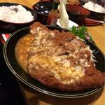 にゅうとん - ジャンボ定食(チーズ)