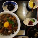 新造屋 - 元祖ぶっかけ丼 1800円(税別)+大盛り200円