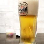 麺道 しゅはり - ビールはアサヒ! (^_^)b