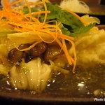 きろく - 胡麻豆腐の湯葉包み揚げのわさびあんかけ