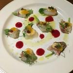 クッチーナ イタリアーナ アリア - 真鯛とオレンジのカルパッチョ