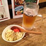54272645 - ちょい飲みセット780円の生ビールと小鉢