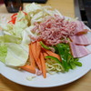 お好み焼き、もんじゃ 杏の里 - 料理写真:焼そばスタンバイ