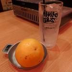 目利きの銀次 - 生搾りグレープフルーツサワー(398円)