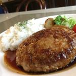 シロクマ食堂 - 黒豚100%のBIGハンバーグ