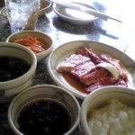 焼肉ハウスリン - ロース定食