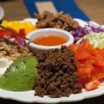 グロリアスチェーンカフェ - 2016.7 メキシカンTACOSギャザリングプレート