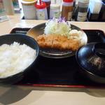 松のや - 朝ロースカツ定食¥400