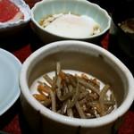 54300409 - 小鉢のきんぴらと温泉卵