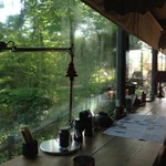 翡翠館 てんぐの蔵 - 窓から林東公園を望む