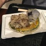 喉越しの蕎麦晴朗 - H28.07.10 野菜天 3点「舞茸」 ・ 「南瓜」 ・ 「茄子」
