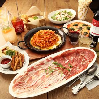 ご宴会コースはフード7品+2h飲み放題付で2960円から!