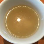ange - スープ 薄味 下に玉子沈殿
