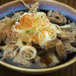 東京焼酎&梅酒bar GEN&MATERIAL - 野菜もたっぷり入ったモツ煮込み