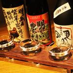 東京焼酎&梅酒bar GEN&MATERIAL - 定番注文方法、三種の飲み比べセット