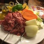 麦羊亭 - 肉と野菜の量は良いね