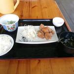 ふれあい食堂 - 料理写真:から揚げ定食 \500
