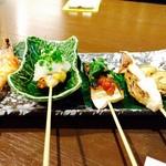 魚 串 BAR - 魚串盛り♪全部味が違う味で楽しめます!!
