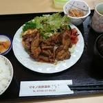 マキノ高原温泉さらさ - とんちゃん定食 味噌やきです。
