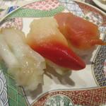 回転寿司 たいせい - 2016/7 貝3貫盛り