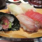 回転寿司 たいせい - 2016/7 季節の5貫盛り
