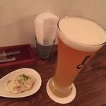 54338038 - お通しのポテトサラダとクラフトビール