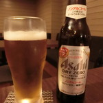 鉄板焼 grow - 今回は、ノンアルコールビール。