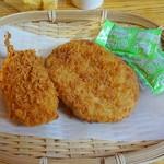 しゃり工房 - 朝食例(かに爪クリームフライ、コロッケ)