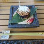 恵比寿 箸庵 - 丸茄子の鴨あんかけ
