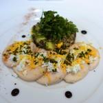 レストラン シャルム - 若鶏胸肉のマリネ 柚子風味 レンズ豆とアボカドのサラダ