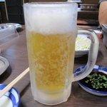 みらく - ドリンク写真:飲めない後輩を横目に取り敢えずビールと後輩はコーラで乾杯!