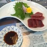 54350698 - くじらのさしみ(勇魚定食)